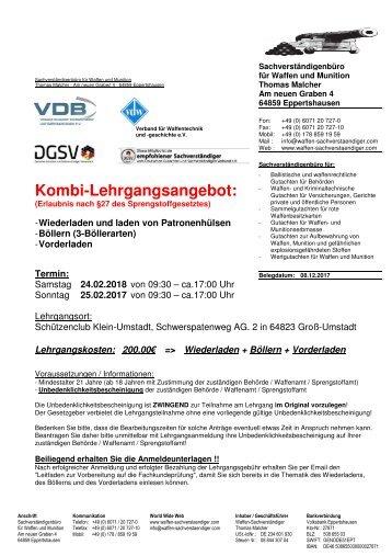 Unterlagen Kombi-Lehrgang 24.02-25.02.2018