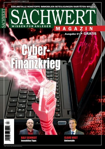 Sachwert Magazin Ausgabe 61, November 2017