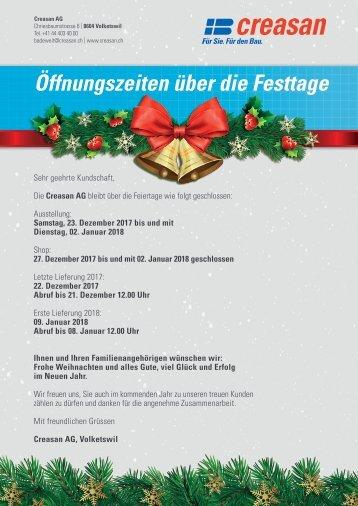 20171122_Flyer_Oeffnungszeiten_Festtage_Volketswil