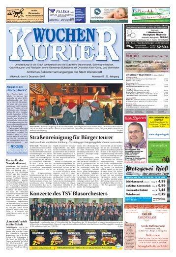 Wochen-Kurier 50/2017 - Lokalzeitung für Weiterstadt und Büttelborn