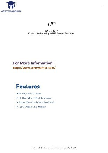 HPE0-S47 Practice Test Software