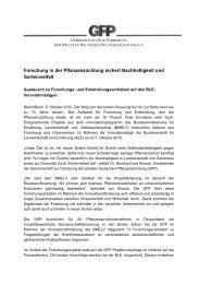 Forschung in der Pflanzenzüchtung sichert Nachhaltigkeit und ...