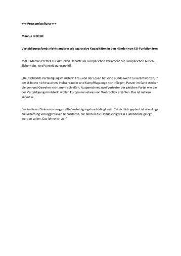 Pressemitteilung MP_Verteidigung