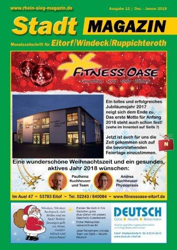 Stadtmagazin Eitorf, Windeck, Ruppichteroth, Ausgabe 12 / Dez. 2017 - Jan. 2018