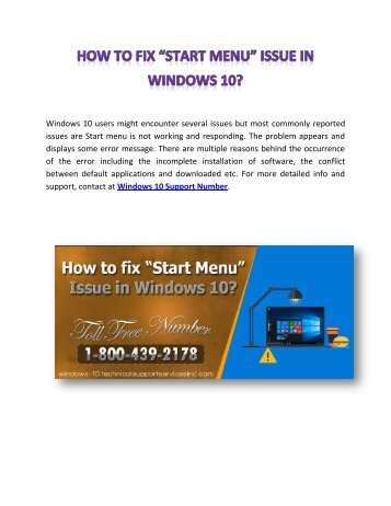 How to fix _Start Menu_ Issue in Windows 10