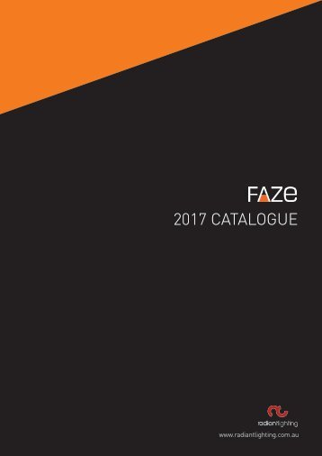 FAZE Lighting Catalogue 2017