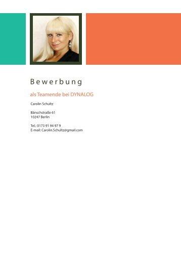 BEWERBUNG DYNALOG_CAROLIN SCHULTZ