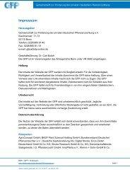 Impressum - Bundesverband Deutscher Pflanzenzüchter e.V.