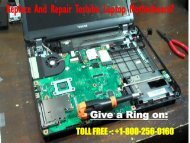 Replace And Repair Toshiba Laptop Motherboard
