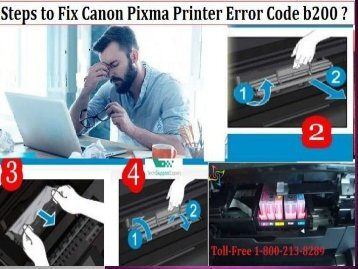 Fix Canon Printer mx850 Error Code b200 by 18002138289