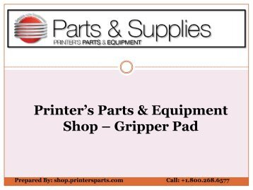 Buy Gripper Pad from Shop.printersparts.com