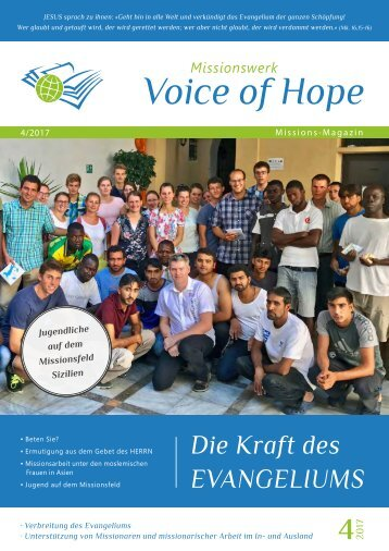 Voice of Hope Magazin 4-2017