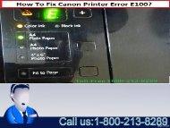Fix Canon Printer Error E100-0001 by 1-800-213-8289