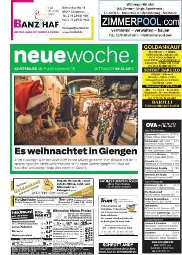 06.12.2017 Neue Woche