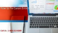 How to Fix Canon Error Code p08?1-800-213-8289