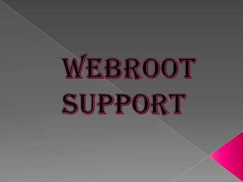 Webroot-Support 1-888-827-9060