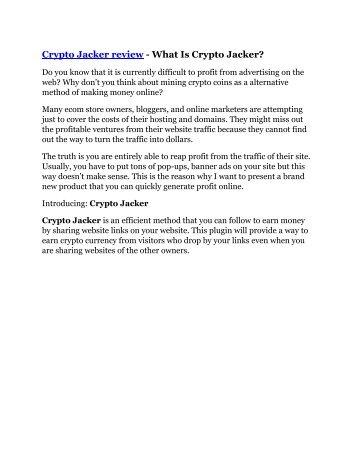 Crypto Jacker review - 65% Discount and FREE $14300 BONUS