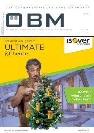 2017-12 ÖBM Der Österreichische Fachmarkt - ISOVER Steinzeit war gestern ULTIMATE ist heute