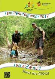 Familien-Programme 2017 im Schwäbischen Albverein.