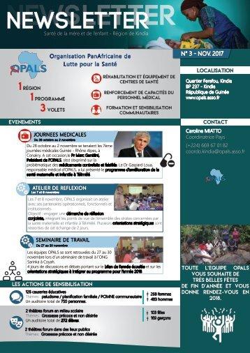 Newsletter OPALS - Novembre 2017