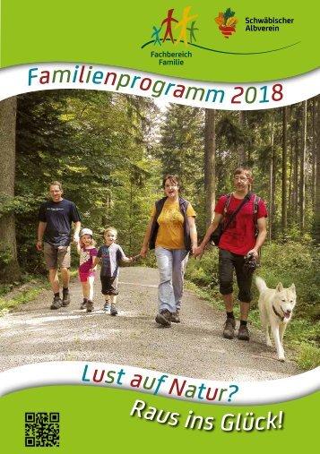 Familien-Programme 2018 im Schwäbischen Albverein.