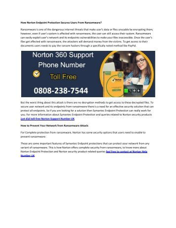 How Norton Endpoint Protection Secures Users From Ransomware