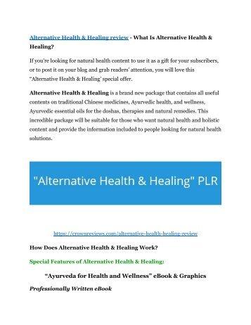 Alternative Health & Healing Review & (BIGGEST) jaw-drop bonuses