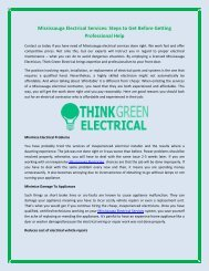 Why you should pick Think Green Electrical as your Mississauga Electrician