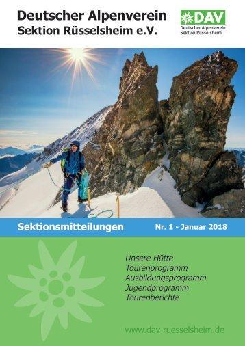 DAV Rüsselsheim Sektionsmitteilungen Nr. 1 2018
