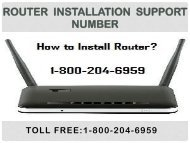 18442003971 Router Installation Support Number