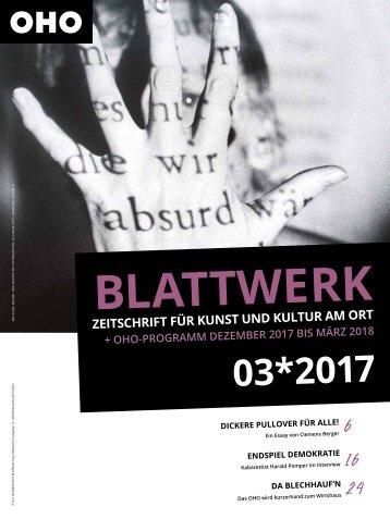 BLATTWERK AUSGABE 03*2017
