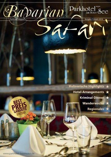 Bavarian-Safari 2017/2018 - Hausmagazin des Parkhotels am Soier See