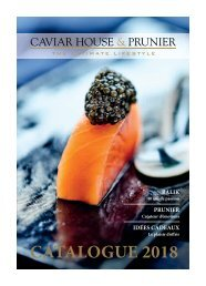 Caviar House & Prunier Catalogue 2018