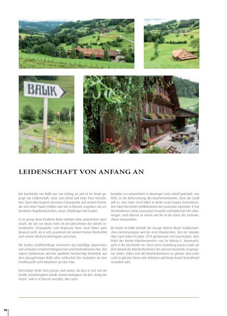 Caviarhouse & Prunier BALIK Versandmagazin 2018