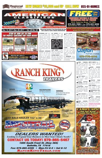 American Classifieds Dec. 14th Edition Bryan/College Station