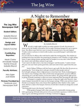 GCA newspaper - Issue 2 - Chrismas Issue 2017