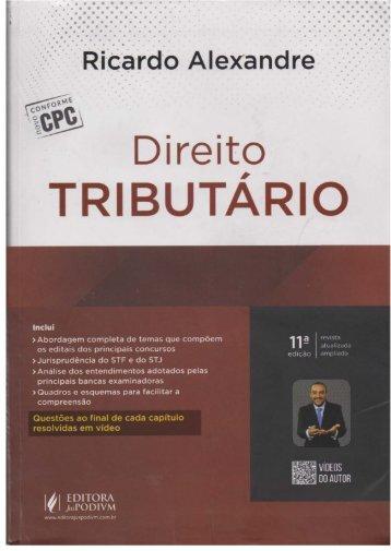 #Direito Tributário Esquematizado (2017) - Ricardo Alexandre