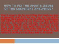 How to fix the update   issues of the Kaspersky   Antivirus?