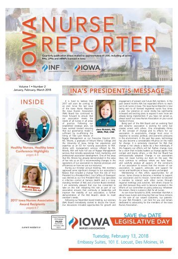 Iowa Nurse Reporter - January 2018