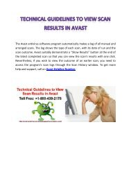 Technical Guidelines to View Scan Results in Avast