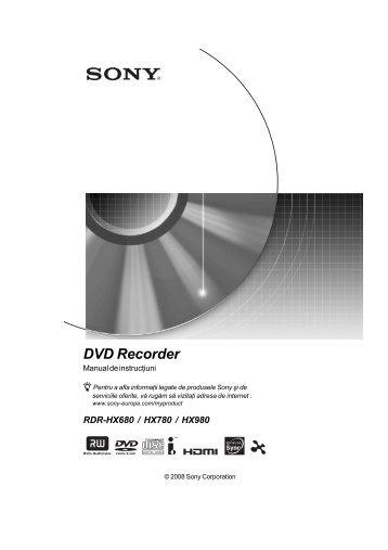 Sony RDR-HX680 - RDR-HX680 Mode d'emploi Roumain