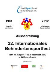 Ausschreibung 32. Internationales Behindertensportfest vom 31 ...