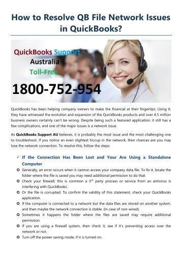 How to Resolve QB File Network Issues in QuickBooks?