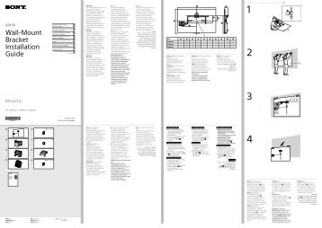Sony KDL-32W600A - KDL-32W600A Guide d'installation Croate