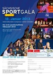 Bestellformular Sächsische Sportgala - Sächsischer Behinderten