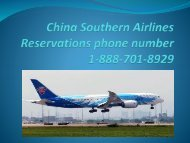 China Southern Airlines Reservations phone number