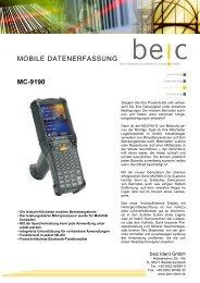 MOBILE DATENERFASSUNG MC-9190 - beic Ident GmbH