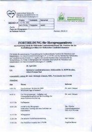 FORTBILDUNG für Herzgruppenärzte - Sächsischer Behinderten
