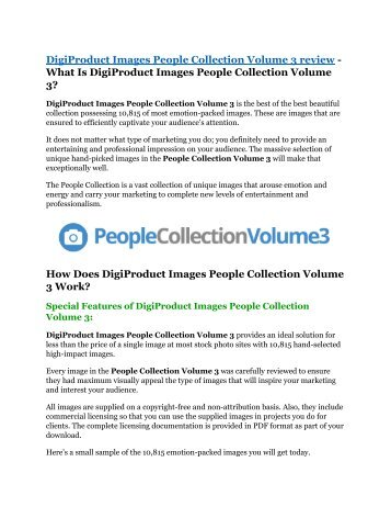 DigiProduct Images People Collection Volume 3 review -(SHOCKED) $21700 bonuses