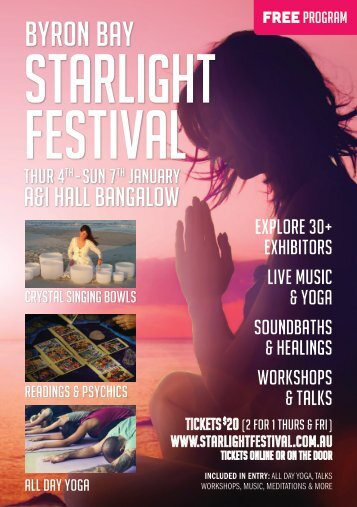 Starlight Festival 2018 Program